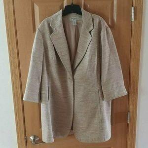 Nine West cream midi coat